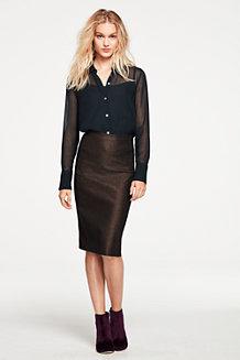 Women's Shimmer Pencil Skirt