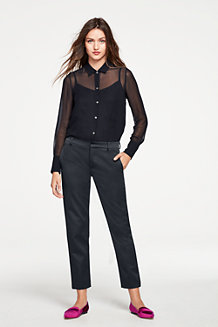 Le Pantalon Satiné Slim Stretch, Femme