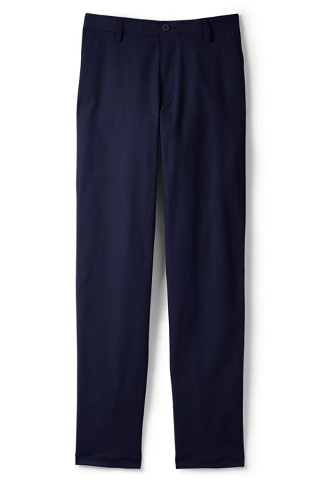 Men's Tailored Plain Front Chino Pants