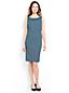 Women's Regular Portrait Collar Print Jersey Dress