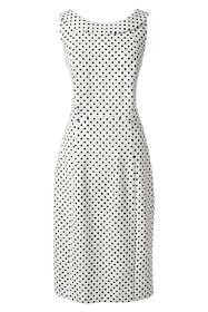 Women's Sleeveless Ponte Portrait Collar Dress