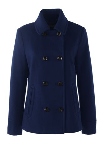 Women's Regular Super Soft Wool Blend Peacoat