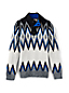 Boys' Graphic Fair Isle Polo Neck Sweater