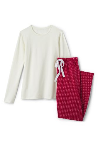 Gemustertes Pyjama-Set aus Baumwoll-Jersey für Damen