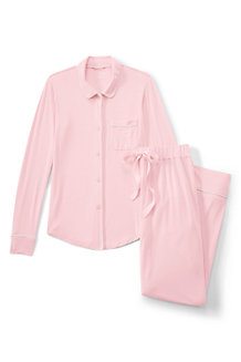 Women's Plain Modal Jersey Pyjama Set