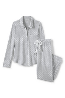 Women's Patterned Modal Jersey Pyjama Set