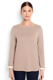 Women's Luxe Jersey Boatneck Top