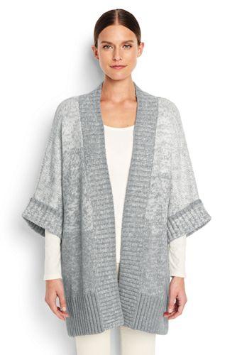 Women's Plus Ombre Dolman Sleeve Cardigan
