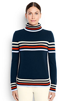 Women's Merino/Cashmere Striped Rollneck Jumper