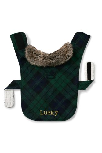 Small Knit Plaid Dog Coat