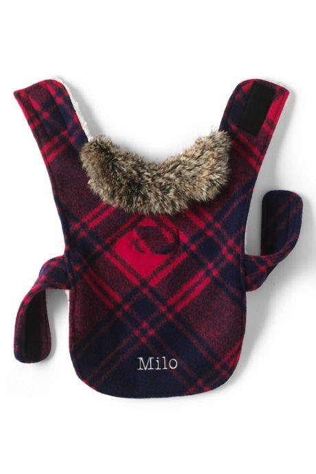 Knit Plaid Dog Jacket