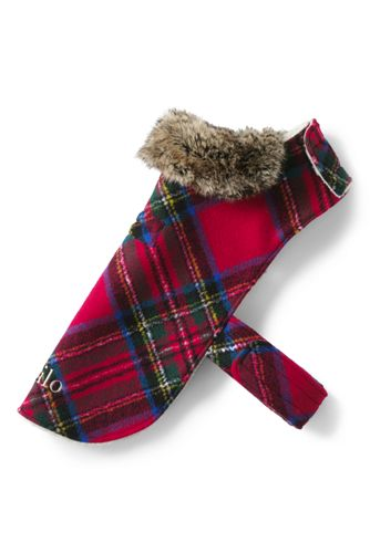 Extra Large Knit Plaid Dog Coat
