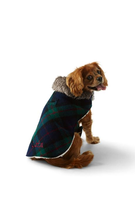 Knit Plaid Dog Jacket