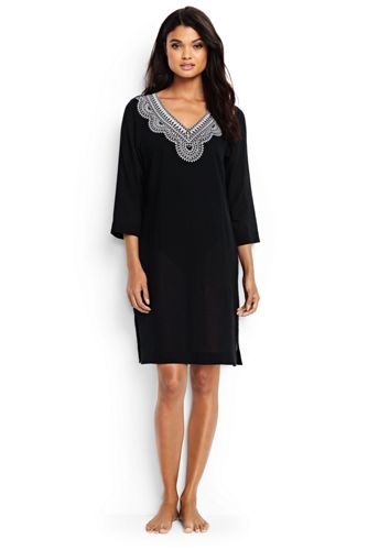 Women's Regular Cotton Crepe Beach Cover-up