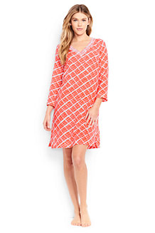 Women's Cotton Crepe Beach Geo Print Cover-up