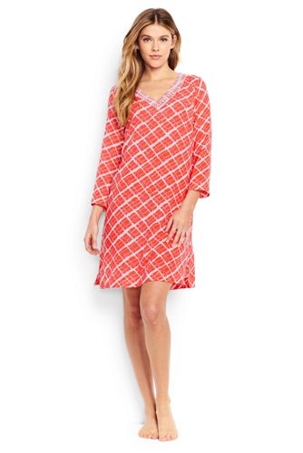 Women's Regular Cotton Crepe Beach Geo Print Cover-up