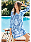Women's Regular Cotton Crepe Floral Beach Cover-up