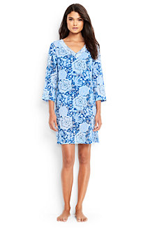 Women's Cotton Crepe Floral Beach Cover-up