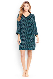 Women's Cotton Crepe Star Print Beach Cover-up
