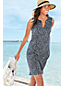 Women's Regular Sleeveless Dot Print Tunic Cover-Up