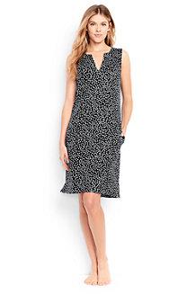 Women's Sleeveless Dot Print Tunic Cover-Up