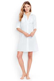 Women's Boyfriend Shirtdress Beach Cover-up