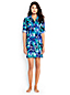 Women's Regular Boyfriend Shirtdress Tropical Palm Beach Cover-up
