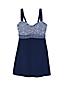 Women's Plus Sweetheart Dresskini Medallion Print Swim Top