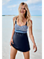 Women's Regular Sweetheart Dresskini Medallion Print Swim Top