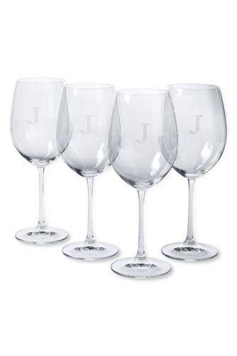 Le Lot de 4 Verres à Vin Rouge en Cristal