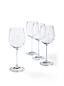 Le Lot de 4 Verres à Vin Blanc en Cristal