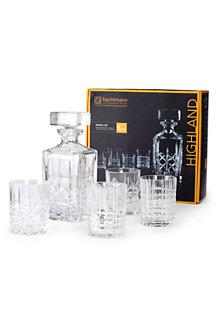 Whisky-Dekantierset aus Kristallglas