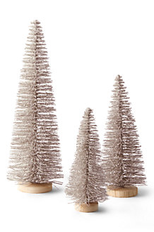 Bottle Brush Trees (Set of 3)