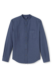 Men's Grandad Collar Oxford Shirt