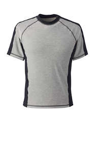 Men's Short Sleeve Spacedye Swim Tee Rash Guard