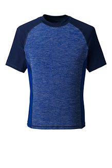 Men's Short Sleeve Space-dye Rash Vest