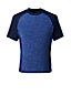 Men's Regular Short Sleeve Space-dye Rash Vest