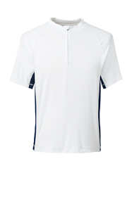 Men's White Short Sleeve Quarter Zip Swim Tee Rash Guard