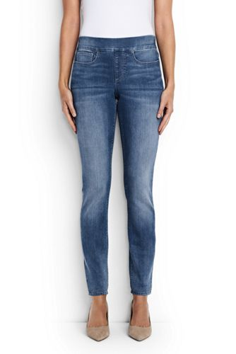 Women's Mid Rise Pull On Skinny Jeans