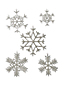 Set of 5 Beaded Snowflake Ornaments