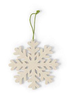 Baumschmuck aus Wollfilz, Schneeflocke