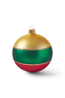 Large Plaid Glass Bauble