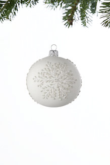 Large White Snowflake Bauble