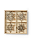 Set of Wooden Snowflake Ornaments