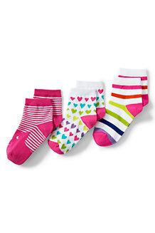 Girls' Novelty 3PK Ankle Socks