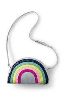 Girls' Sparkle Rainbow Crossbody bag