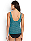 Women's Regular Shape & Enhance Twist Front Dot Print Tankini Top