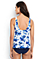 Women's Regular Shape & Enhance Twist Front Blossom Print Tankini Top