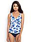 Women's Regular Shape & Enhance Twist Front Blossom Print Tankini Top