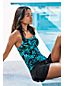 Women's Regular Shape & Enhance Scoopneck Floral Tankini Top